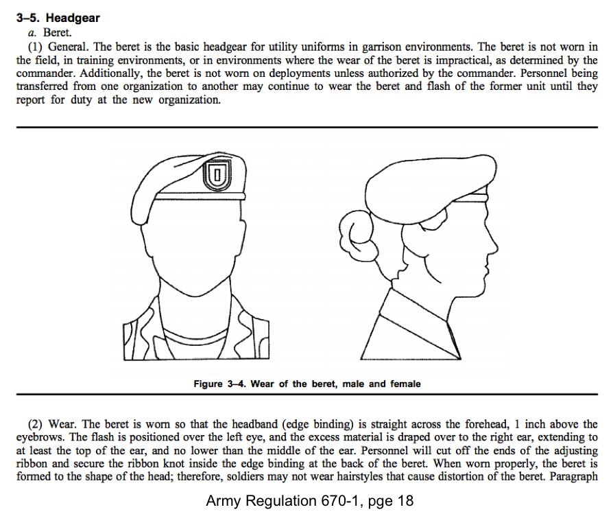 how to wear singapore army beret